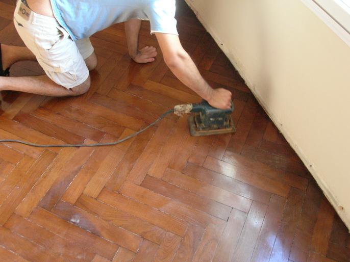 Como plastificar un piso de madera plastificar uno mismo - Como lijar madera ...