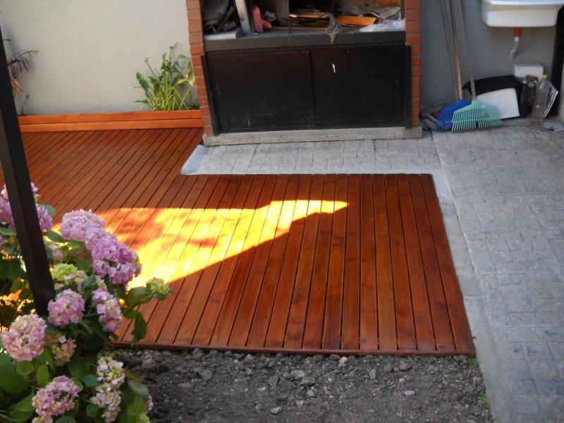 Patio pisos d sign para for Pisos para patios pequenos