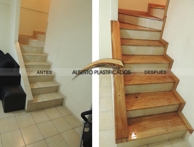 Fotos de pulido y plastificado antes y despu s - Revestimiento para escaleras ...