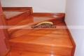 pulido y plastificado de escalera de madera