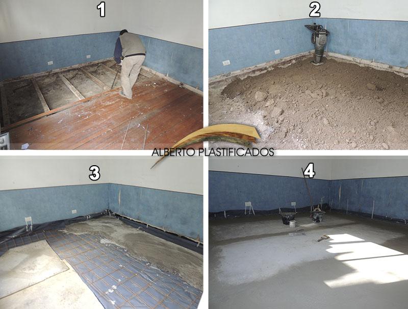 Un piso flotante se puede colocar sobre un piso de madera - Se puede colocar un piso ceramico sobre otro ...