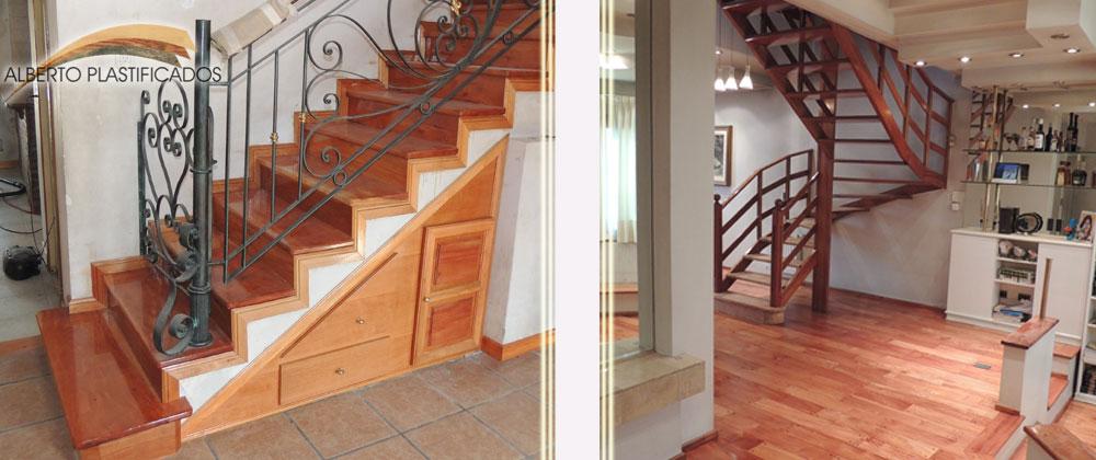 Tintas color para lacas te ir pisos de madera cambiar for Escalera madera sodimac