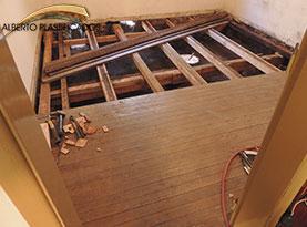 piso de madera con sotano