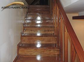 escalera de madera laqueada escaleras de madera