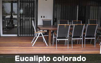 deck de eucalipto colorado