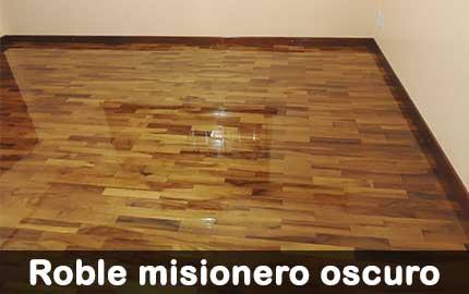 piso de madera de roble misionero oscuro